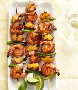 BBQ shrimp-kabobs