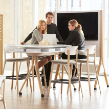 Teknion's standing-height Canteen table is perfect for breakout meetings.
