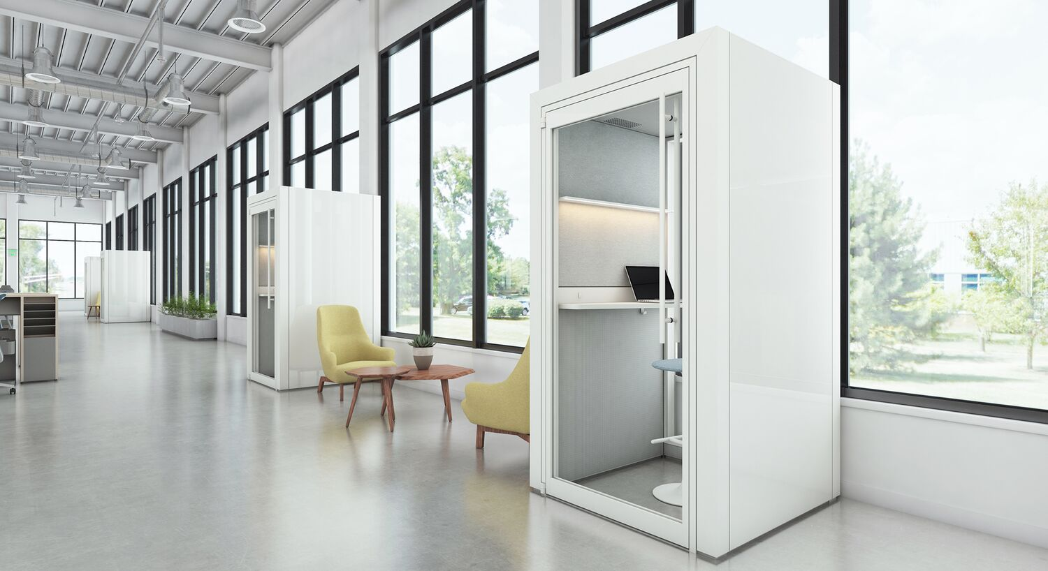 open office floor plan - create private zones