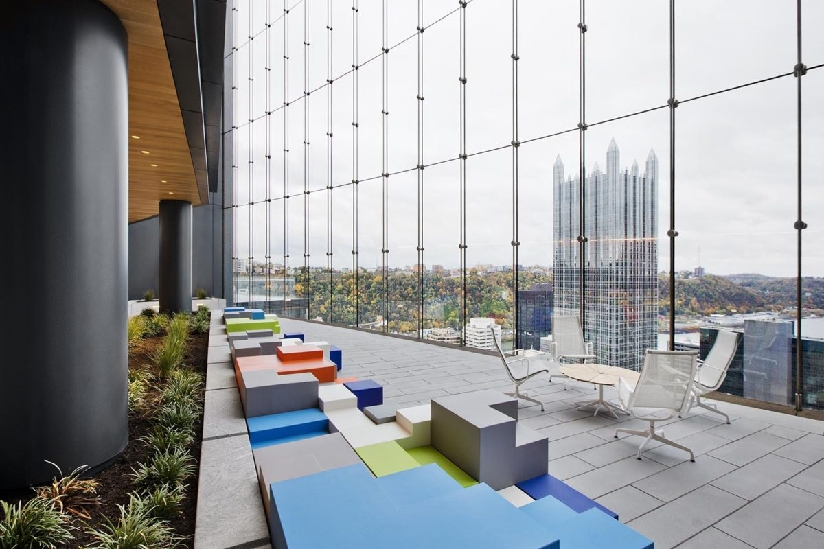 open office floor plans - add outdoor workspaces